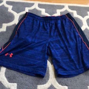Men's under armor shorts with drawstring waist